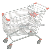 Metal heavy load supermarket shopping cart