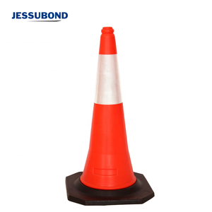 750mm Height Traffic PE Plastic Sports Cones with Rubber base