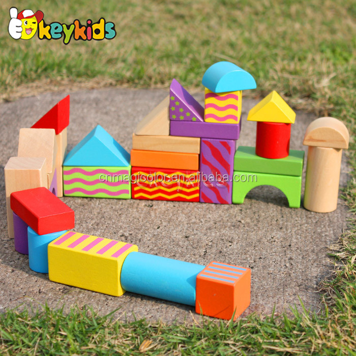 2017 wholesale wooden blocks green toys, funny wooden building green toys, best wooden green toys W13A066