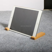 Wooden desk box office holder case for phone and ipad standing
