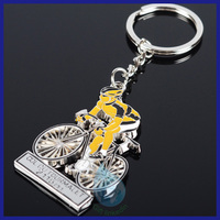 Enamel motorcycle keyring manufacturers/promotional item soft enamel metal bike keychain
