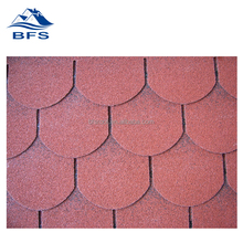red fish-scale asphalt shingles