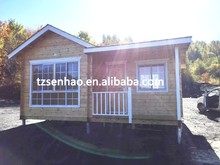 high quality of environmental prefab wooden house series manufacture