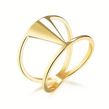 2018 New Hot Selling Fashion Women Stainless Steel Latest Gold Ring Designs For Girls