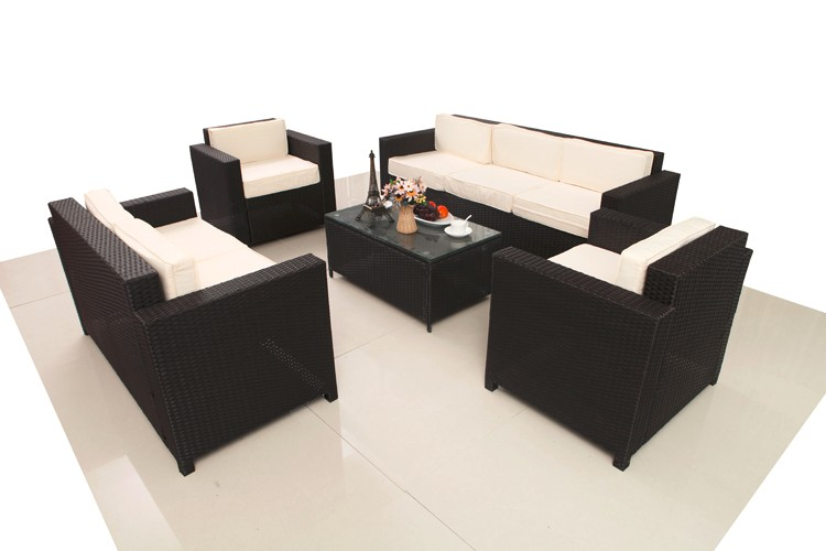 Luxury 5 Piece Rattan Sofa Set with Cushion