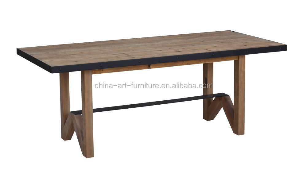 Rustic Solid Wood Dining Table For Dining Room Restaurant, China Whole Sale  Knock Down Furniture