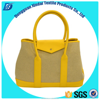 Fashion pu leather handbag for shopping and promotion, good quality fast delivery OEM canvas PU bag