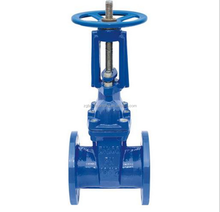 China manufacturer flanged type cast iron soft seated flanged gate valve dn200 pn16
