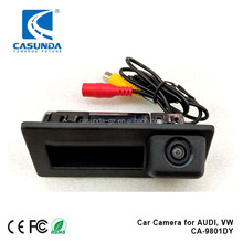Car backup parking camera with reverse guide for 2017 AUDI A4L, tailgate handle-bar installation