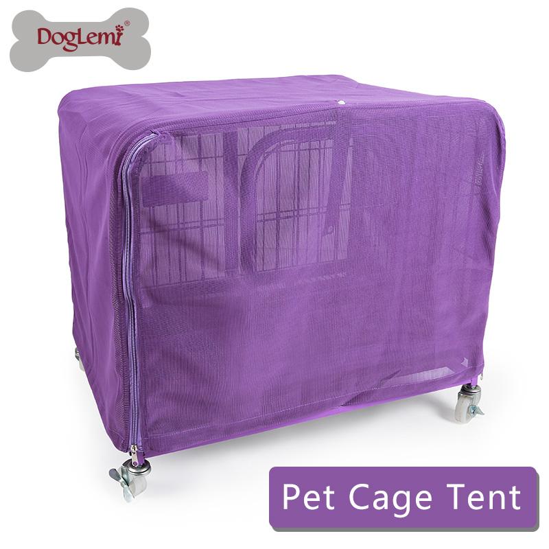 Strong Mesh Pet Cage Cover Breathable Mosquito Net Dog Crate Kennel Covers