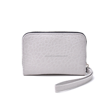 custom ladies pu leather wrist hand clutch wallet