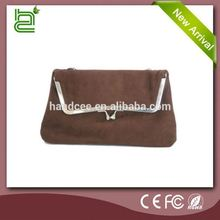 Fashion pretty style beautiful design Brown Satin hand bags for women