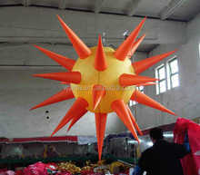 hanging LED light inflatable star for event banquet decoration