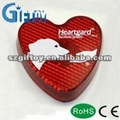 Led Reflector Heart Shape Keychain