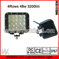 Execellent High Brightness Cre e 4 Row 48w 4X4 Led Headlight/Offroad atv utv suv Jeep Truck Auto Lighting System