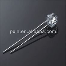 high lumen 120 viewing angle 5mm flat top led diode