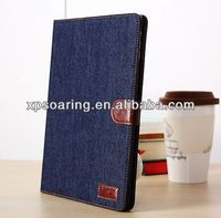 Stand jean case pouch cover for ipad 5 wallet design