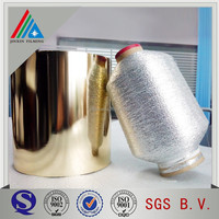 pet mylar yarn golden&silver yarn aluminized mylar film for cloth