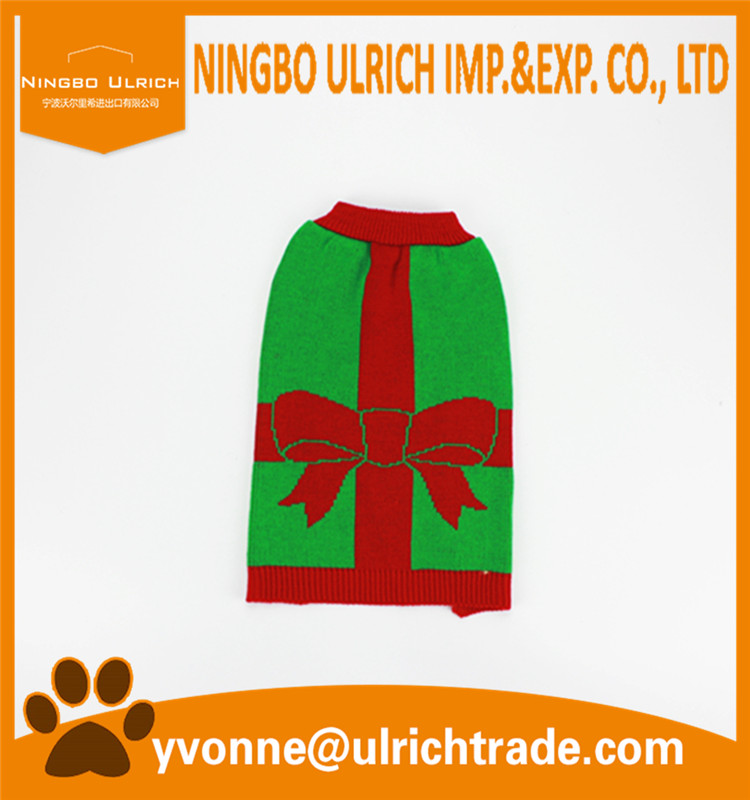M135 new 2016 machine knitted hot sale Christmas pet sweater