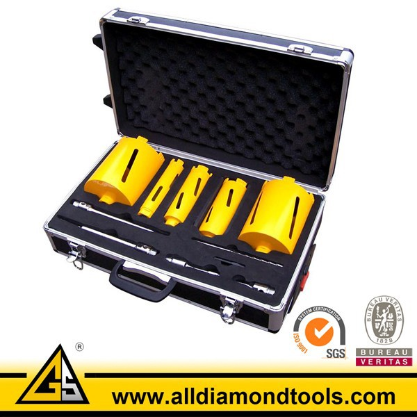 5PCS Dry Diamond Core Drill Bit Set With Metal Box