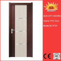 Best quality five star hotel interior pvc mdf doors SC-P191
