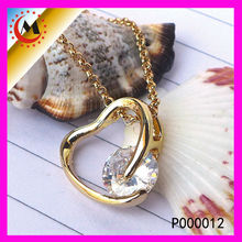 AUSTRALIA FASHION JEWELRY ELEGANT PENDANT NEW IN 18K GOLD,NEW AGE CRYSTAL JEWELRY IN HEART SHAPE