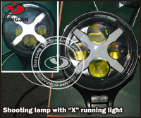 "Hight light 60w 2000lm led shotting light with ""X"" for jeep wrangler truck SUV ATV offroad 4x4 motorcycle"