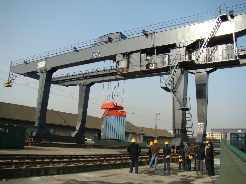 Chinese railway cargo yard special 5o ton container crane