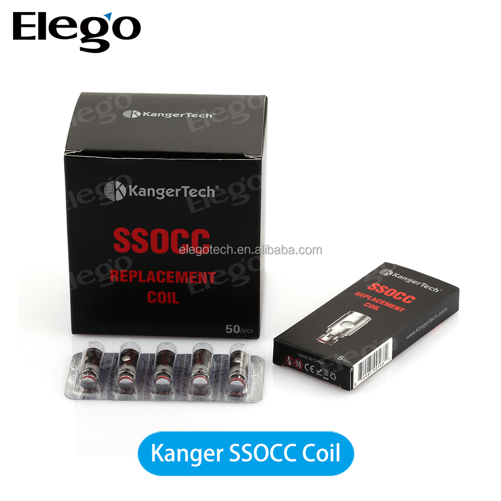 Stainless Steel OCC 100% Original Kanger SSOCC Coils 0.5ohm 1.2ohm 1.5ohm Ni200 0.15ohm Replacement Coil Head