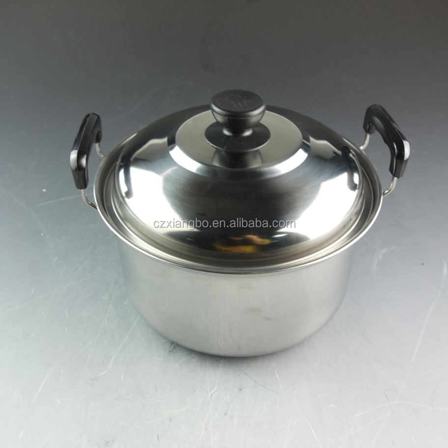 set of 8 410# stainless steel American-style high pan cookware pot