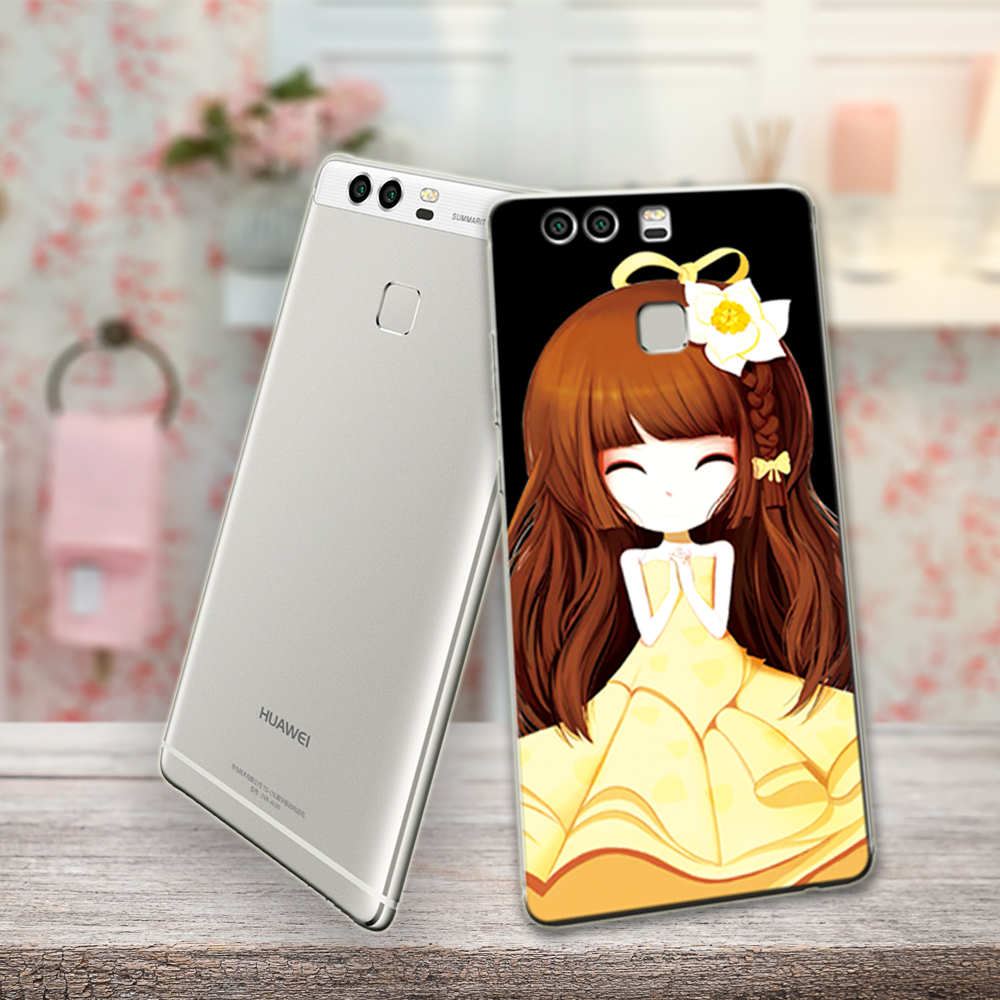 mobile phone cases for girs for huawei p9 lite case transparent soft tpu full-board edge hard smartphone case