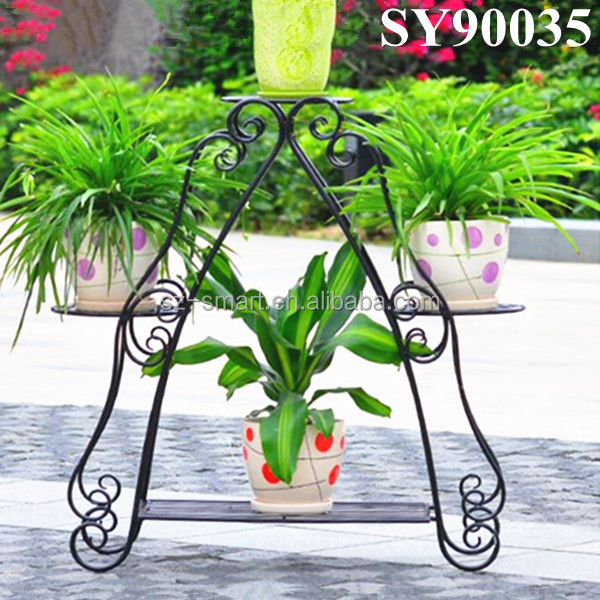 Outdoor cheap garden metal flower pot stand