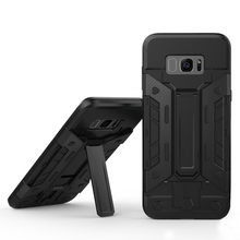 Latest design kickstand card holder for samsung galaxy s8 shockproof case