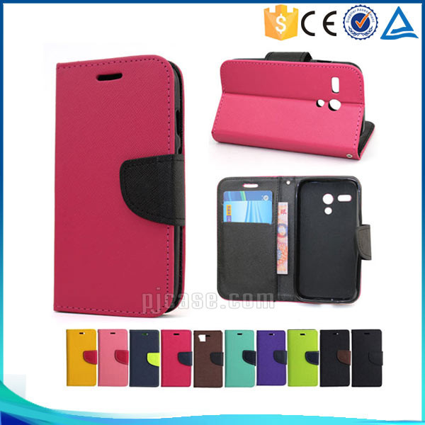 Mobile phone accessory pu magnetic leather flip cover for Hisense And romax Q case