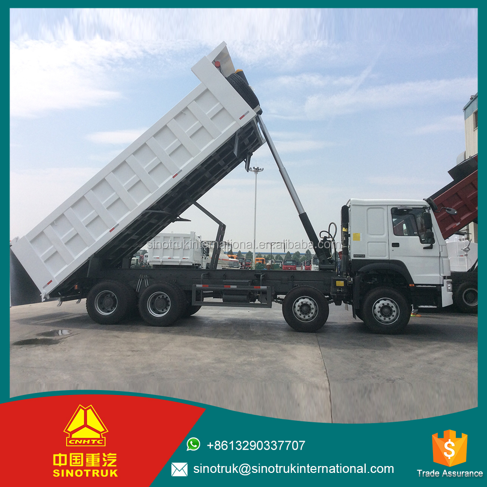 8X4 tipper truck Dual circuit compressed air brake howo 10 wheeler dump trucks for sale