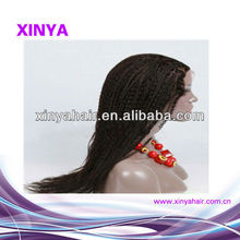 Fashionable AAAA grade brazilian braid lace wigs for black women