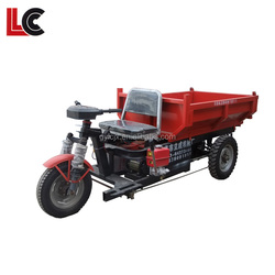 Energy saving new design articulated mini dump tuktuk / multiple use electric 3wheel trike
