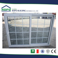 High quality safety upvc modern window grill design