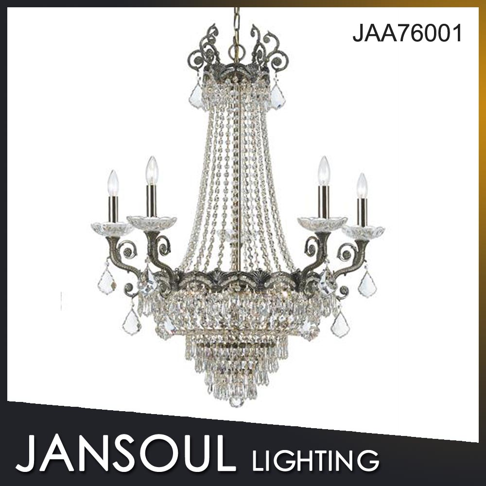modern design clear crystal chandalier lamp fixture for weeding decoration