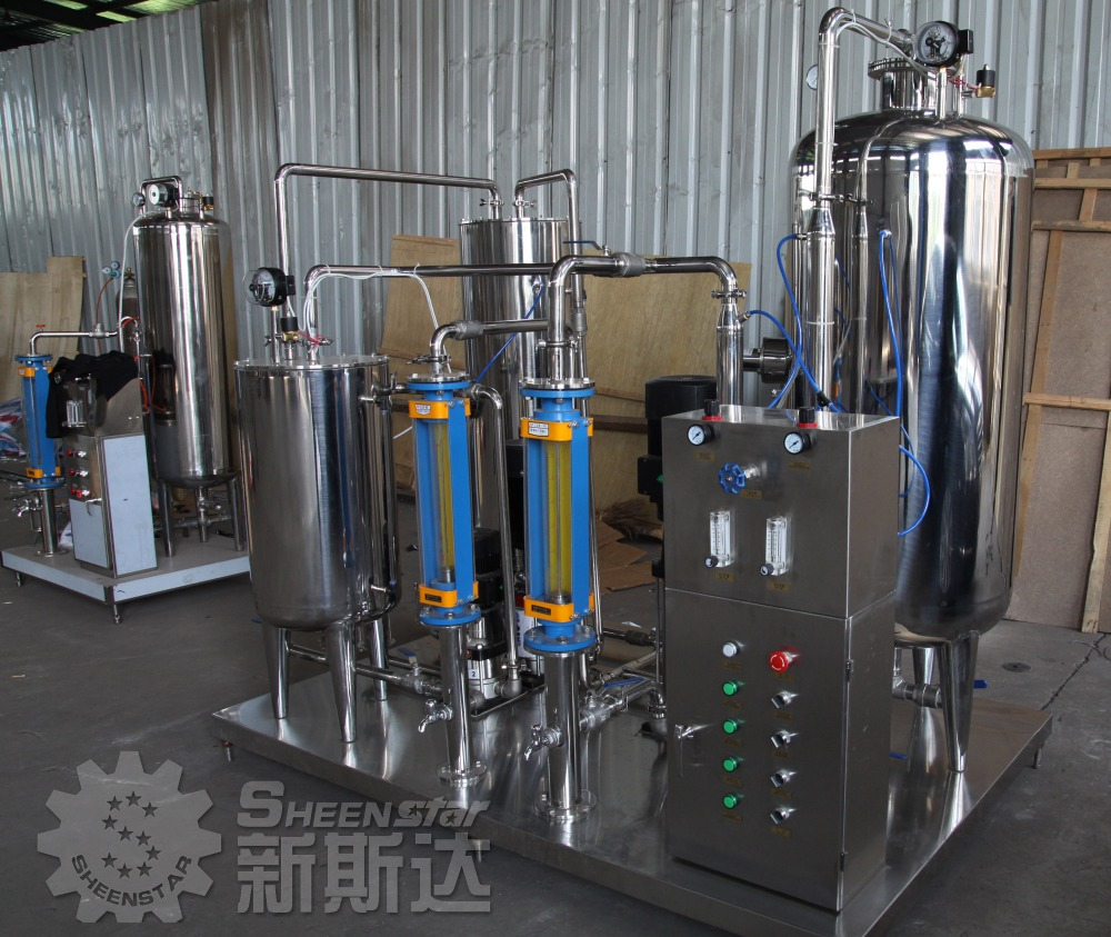 4000kg/h Co2 carbonated mixing machine for soft drink,fruit juice
