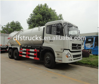 2015 hot sale Dongfeng 6x4 16000 Litres Vacuum Sewage Suction Tanker Truck