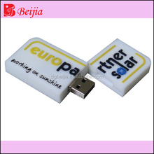 2016 custom rubber case for pendrive 4gb as premium gift