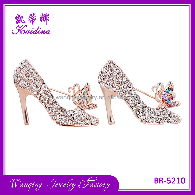 High Heels Shoes Princess Brooch and Pin Gift for Women Girl