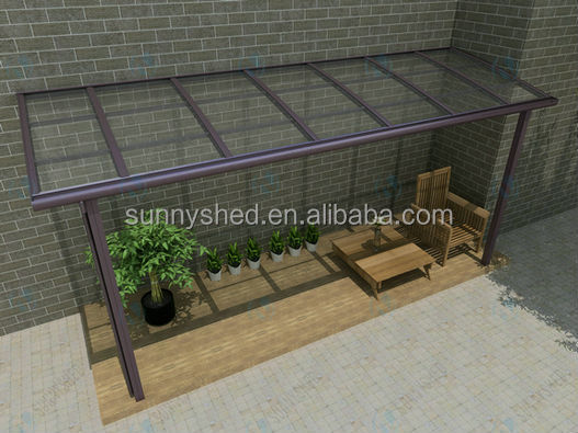 DIY outdoor aluminum sun rooms solid polycarbonate awning canopies