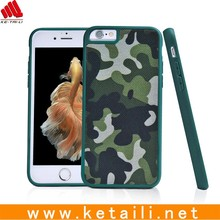 Camouflage Design TPU + PC Mobile Phone Cover With Cloth Plate Insert
