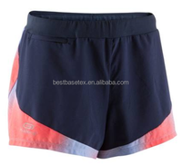 Women sportive sweat-absorbent breathable soft running shorts print