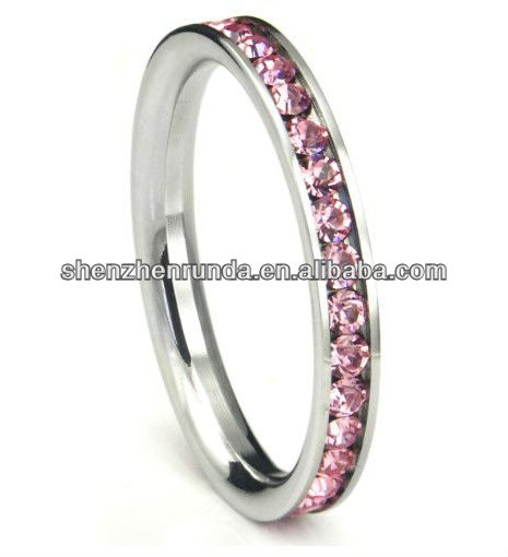 Super wedding jewelry pink stones pave ring vners Manufacturer & Factory & Supplier