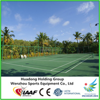 6mm Eco-Friendly safety anti slip rubber flooring for indoor/outdoor tennis court cover