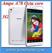 Ampe A78 Octa Core 3G phone 7inch tablet pc 1920*1200 IPS MTK6592 8.0MP/13.0MP camera 2GB/16GB GPS Bluetooth