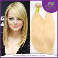 New Arrival factory wholesale high Quality 5a hair weaving remy russian 613 platinum blonde hair